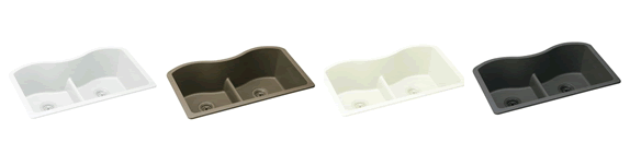Elkay ELGULB3322 Gourmet� E-Granite Double Bowl Sink